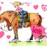 valentines day horse