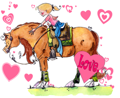 valentines day horse